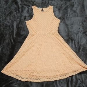MAURICES CROCHET PEACH SLEEVELESS DRESS NEW